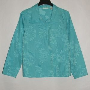 Tantrums Women Floral Jacket EUC
